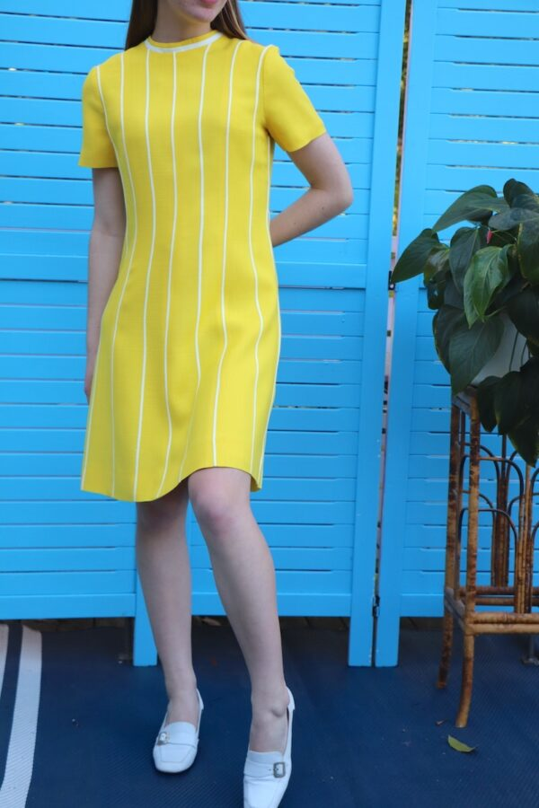 Vintage 1960s yellow Rembrandt dress