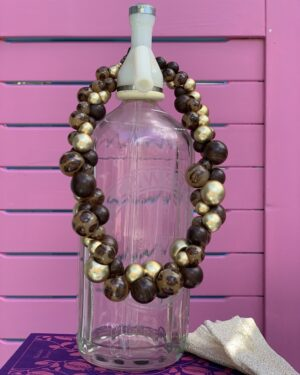 Vintage gold and brown chunky necklace