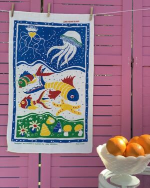 Vintage Lord Howe Island linen tea towel