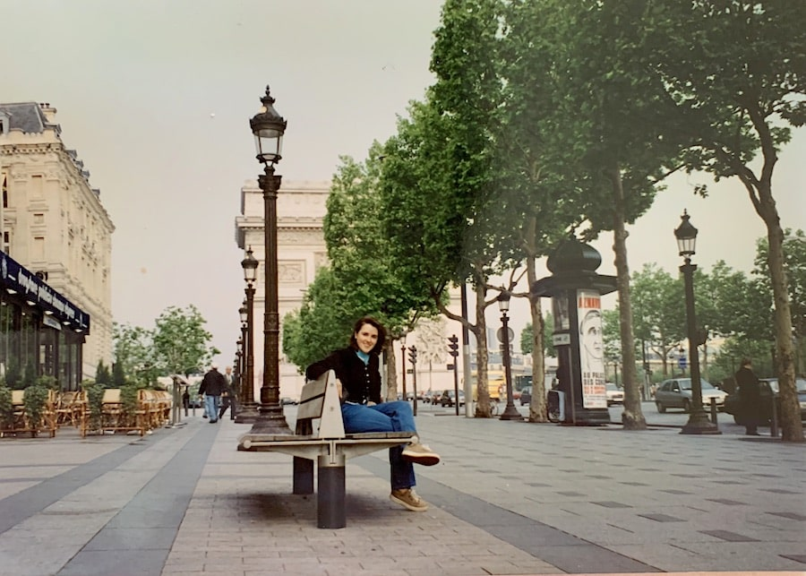 Katrina Holden on Champs Elysees in 1997