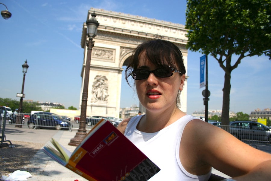 Katrina Holden on the Champs Elysees, 2005