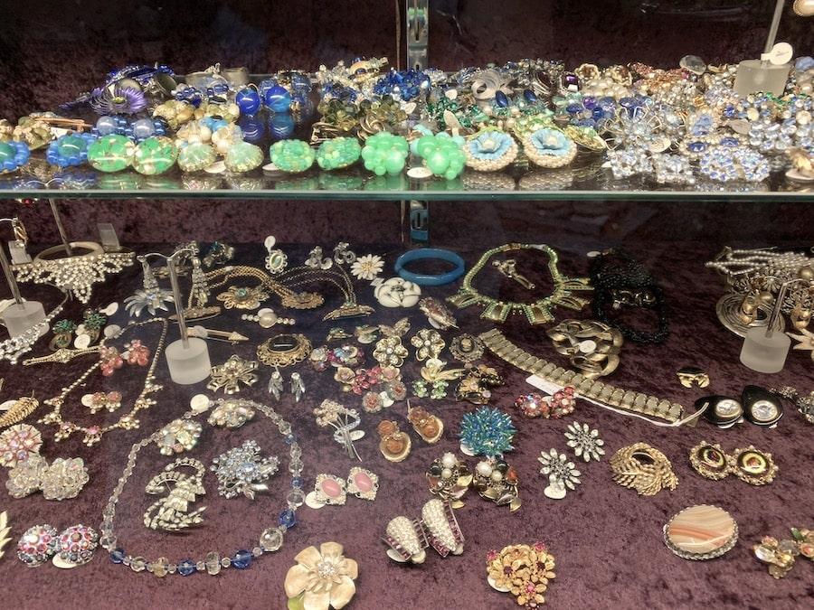 Vintage costume jewellery at Twisting Vintage. Image: Vintage Travel Kat