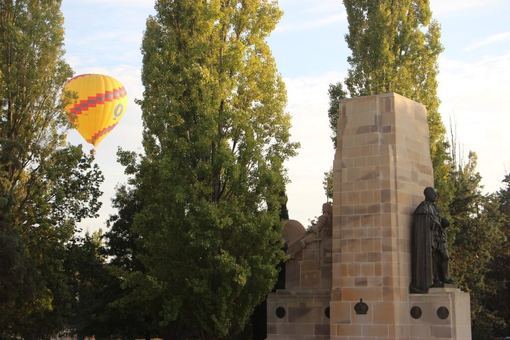 Balloon rides in Canberra at Old Parliament House by Vintage Travel Kat