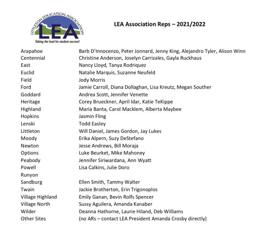 LEA AR list