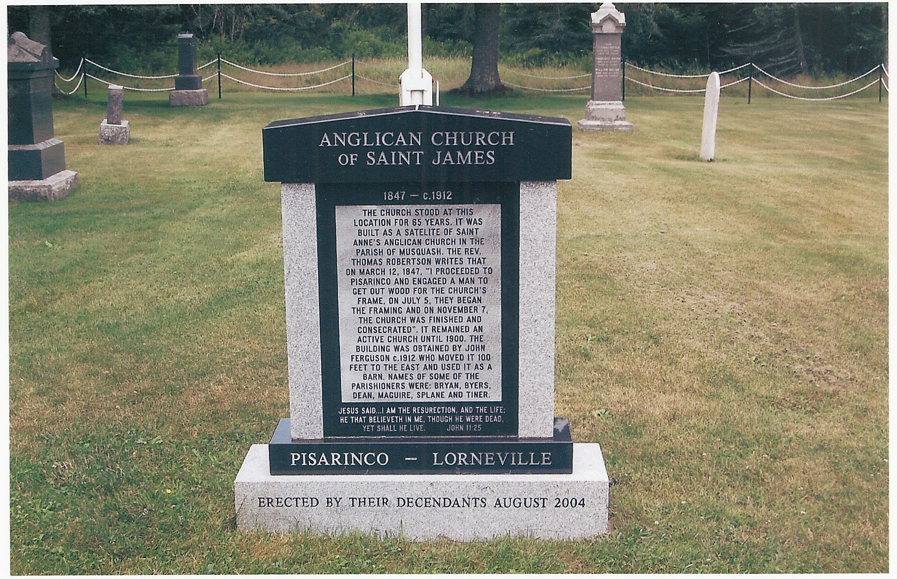 monuments  Anglican church