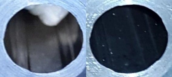 Inspecting a barrel with a smart phone camera