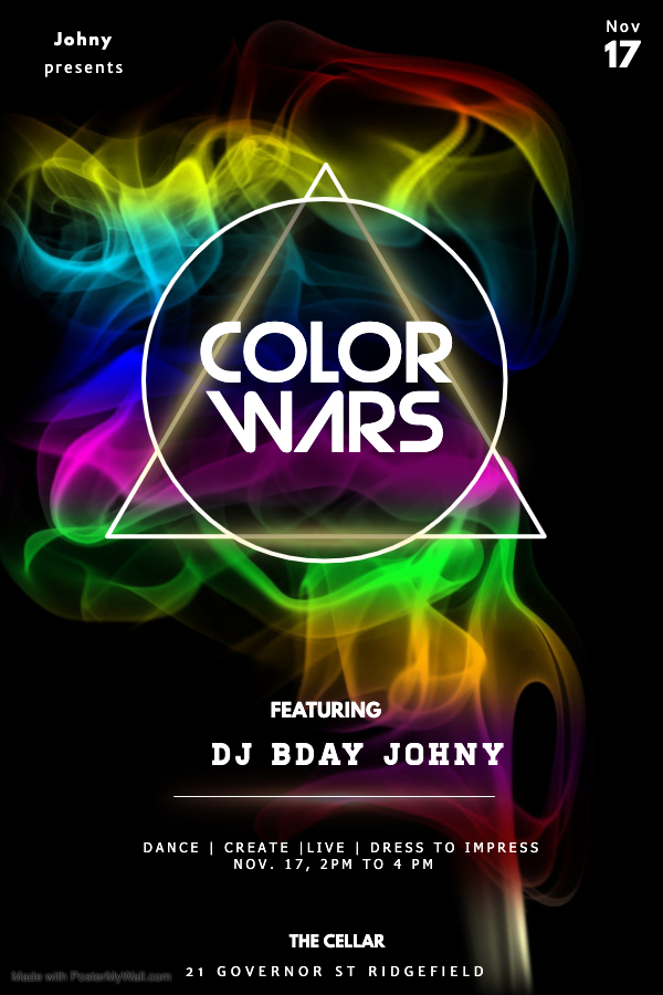 Copy of Color party night Flyer design template - Made with PosterMyWall