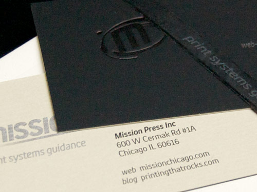 Mission Press Business Cards and Notebook