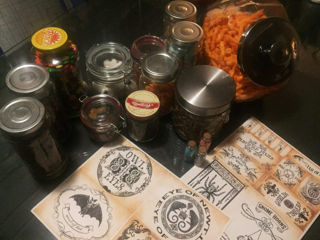 Getting Creative with Halloween During COVID - Fast and Easy Halloween Apothecary Jars