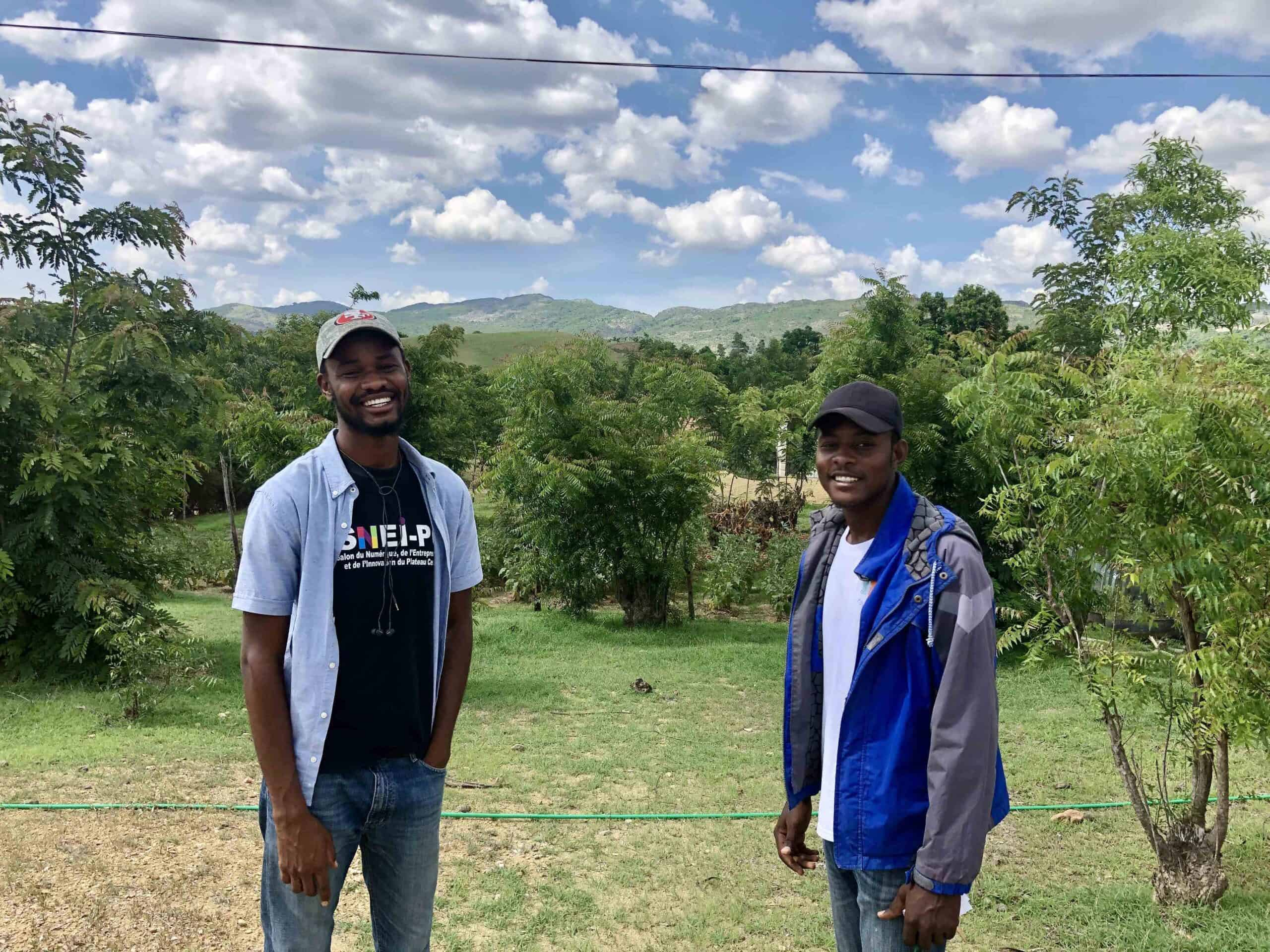 Impact education and witness a student's journey. Former students pictured here visit the agriculture farm associated with our programs.