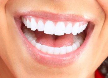Woman with an open mouthed smile