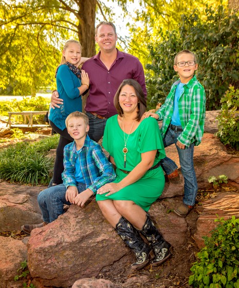 Doctors Jennifer and Cory Chambers with their kids