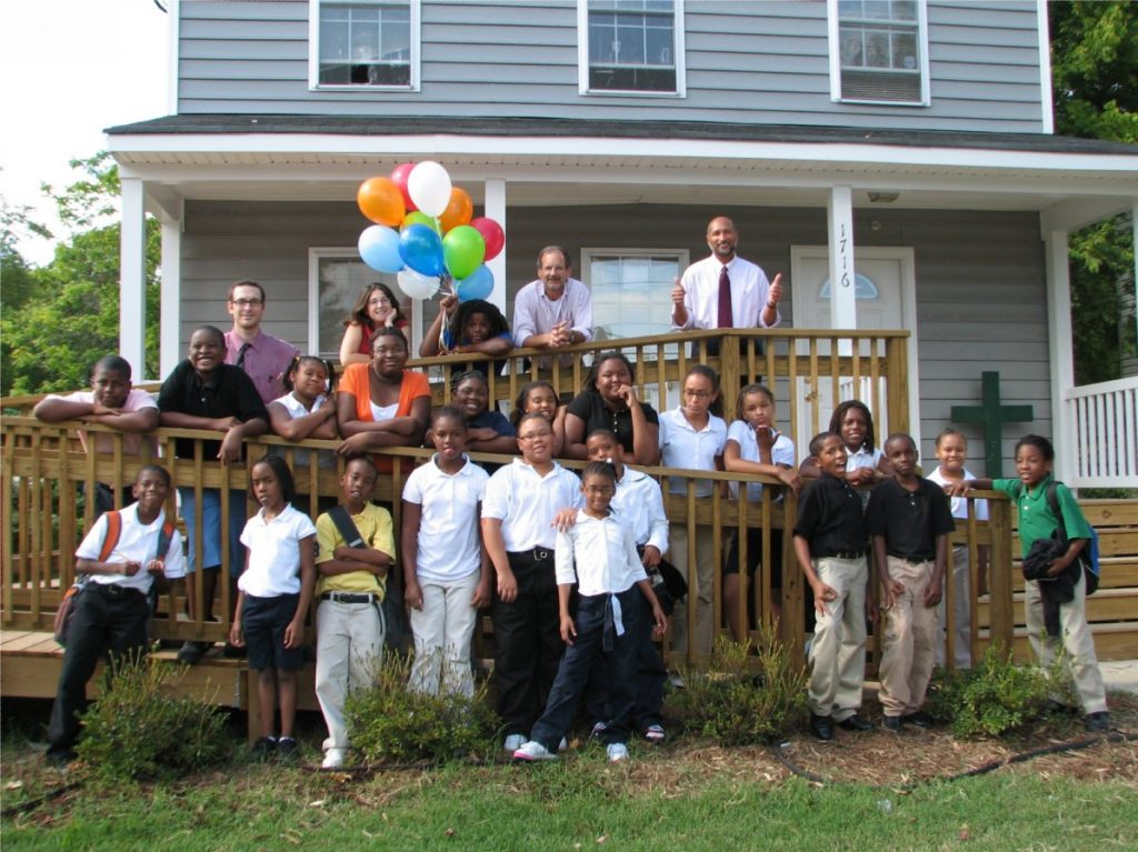 First AJC class. 2009 Schoolhouse location at N. 28th Street in the North Church Hill neighborhood of Richmond, Virginia.