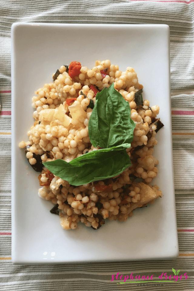Mediterranean Pearl Couscous Salad
