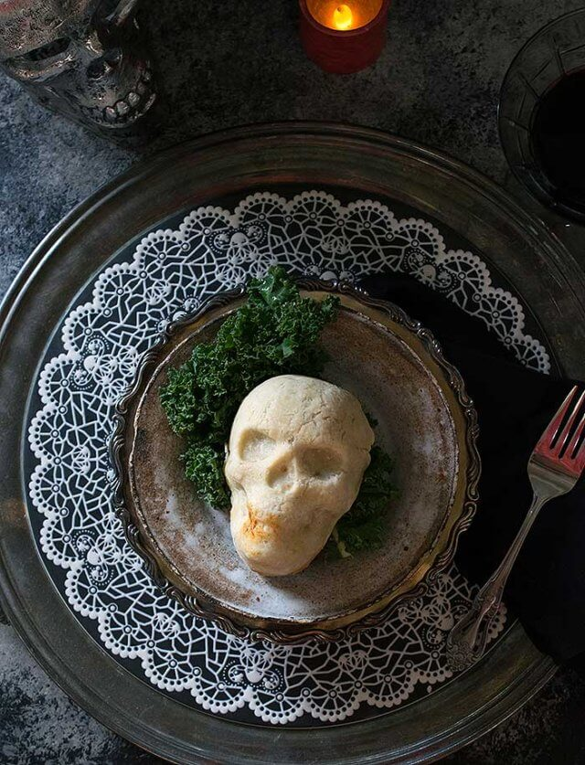 Select one of these plant-based Halloween dinner recipes for a spooky holiday meal, or create a boo-licious buffet with several of them together.