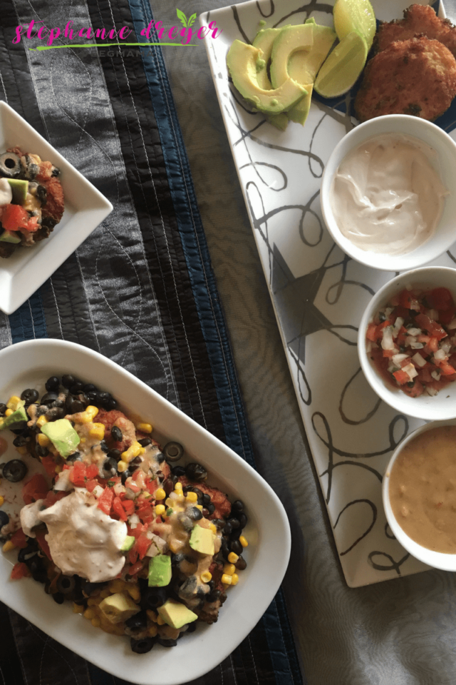 Vegan and Gluten-free Latke Nachos