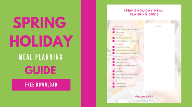 Easter Meal Planning