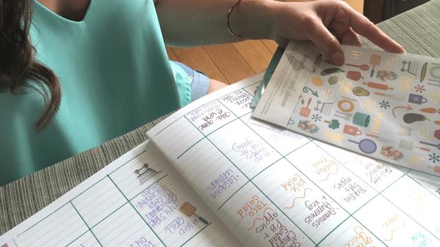 Bullet journal meal planning
