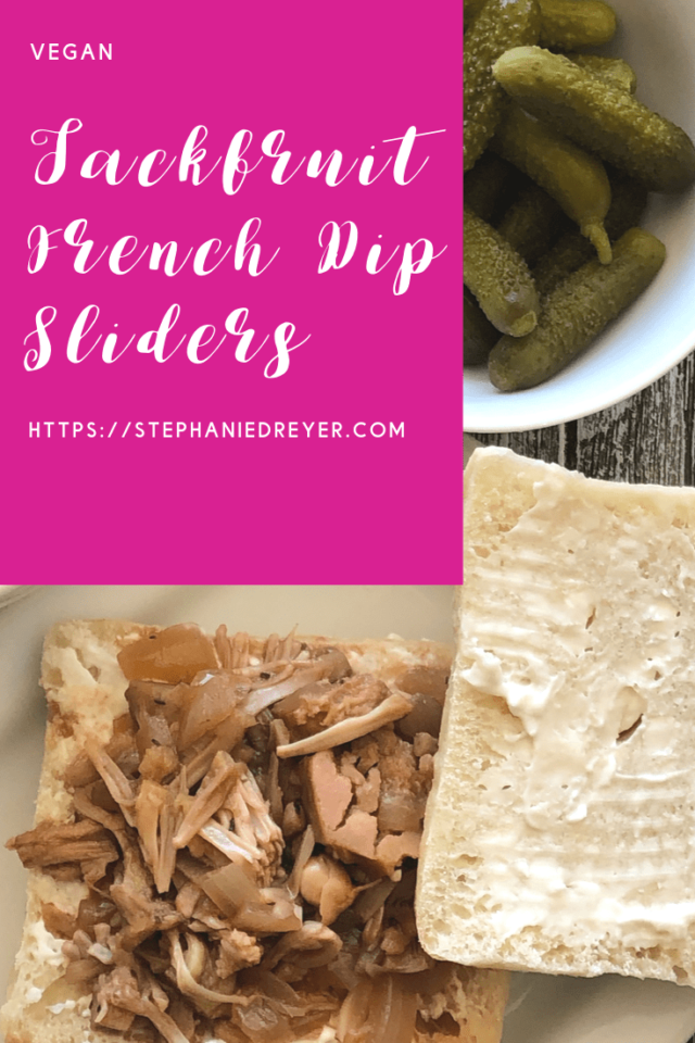 Jackfruit French Dip Sliders
