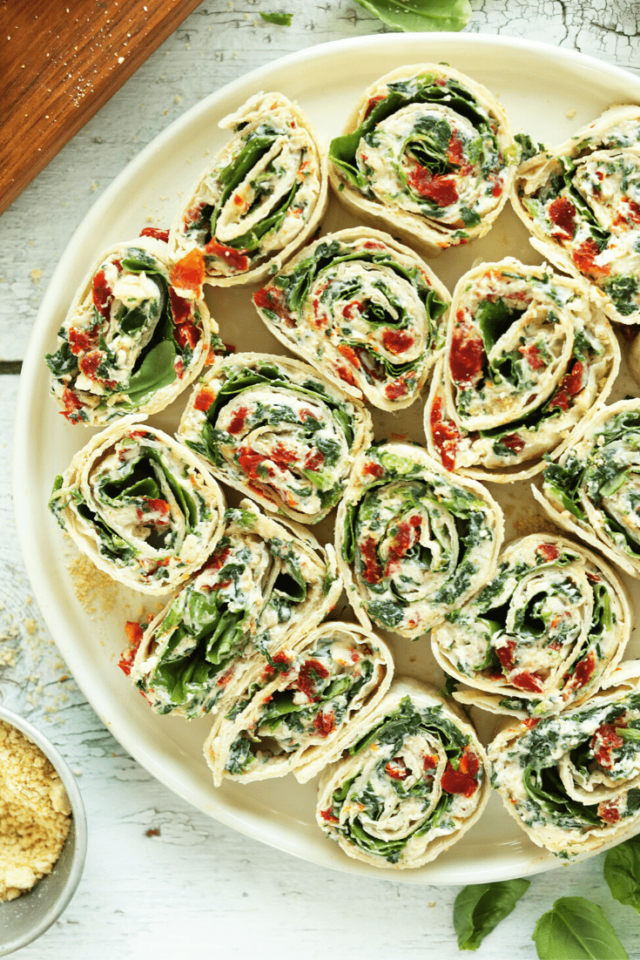 Tomato and Basil Pinwheels