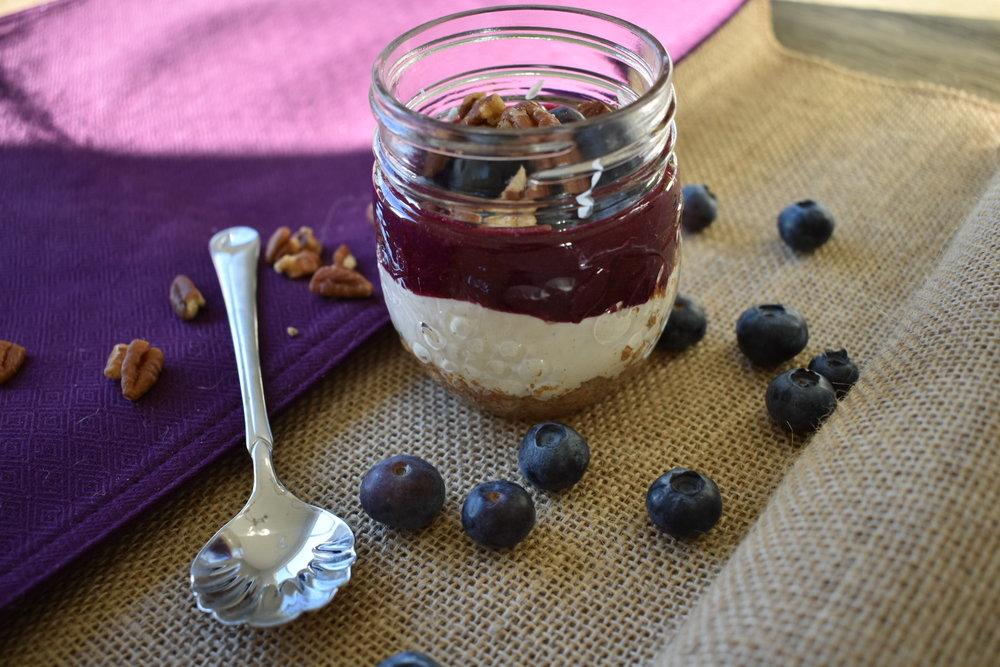 Blueberry Pecan Cheesecake