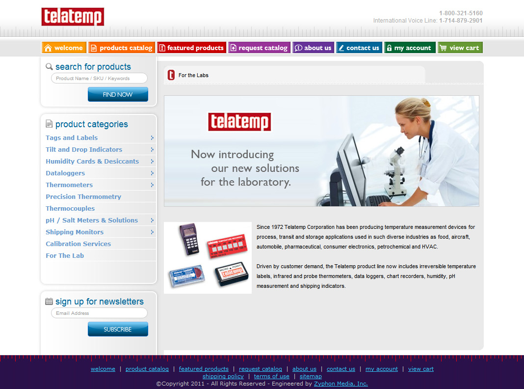 Telatemp Launches Custom E-Commerce Engine