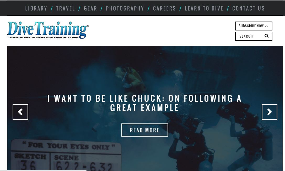 A New Responsive Website for Dive Training Magazine