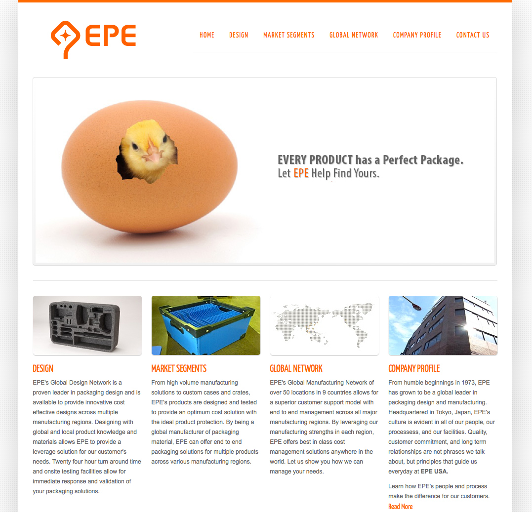 EPE USA's Responsive Website Goes Live
