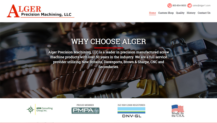 A New Responsive Website for Alger Precision