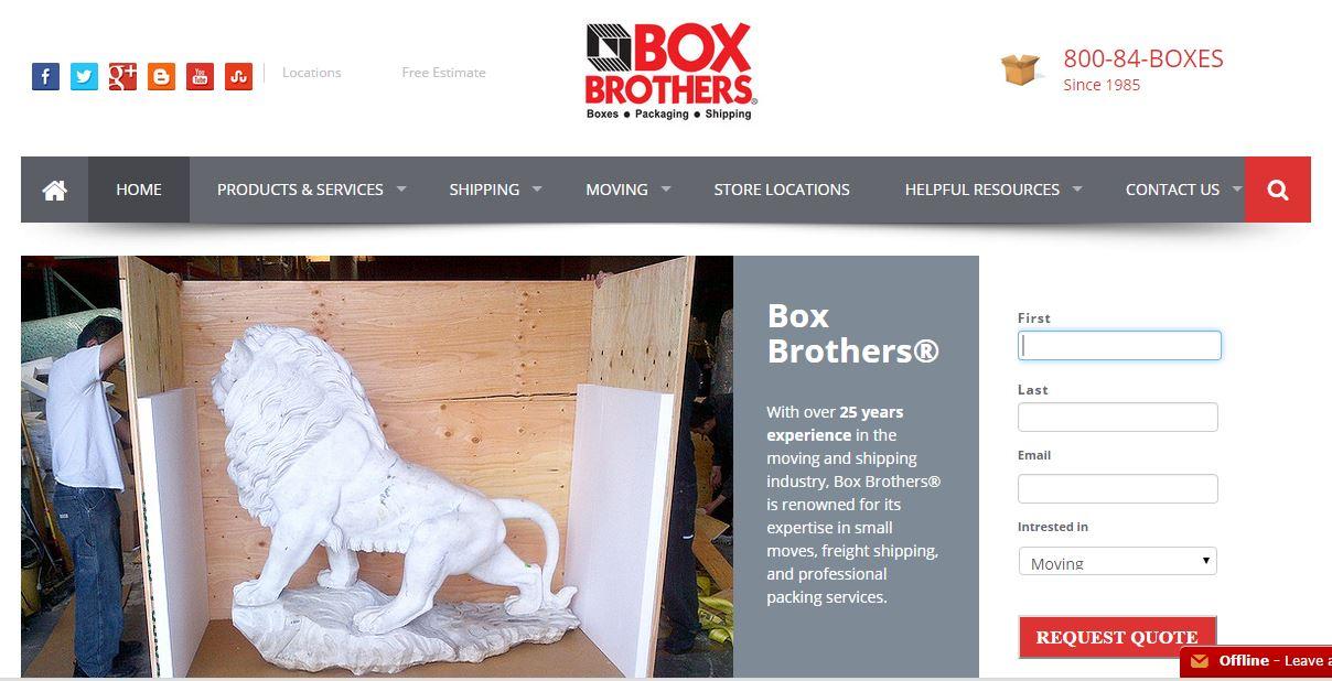 Marketing for Box Bros