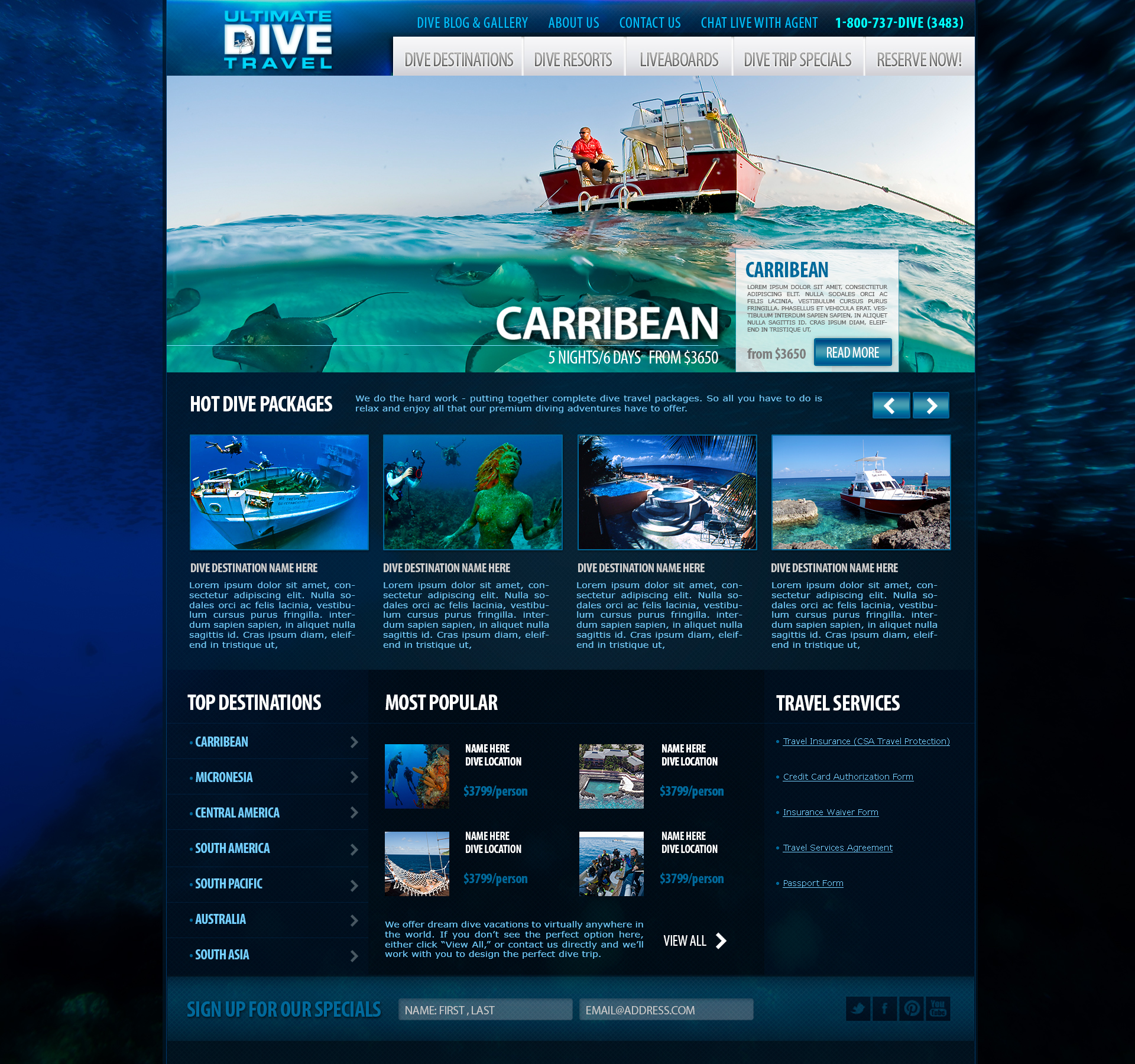 Marketing for Ultimate Dive Travel