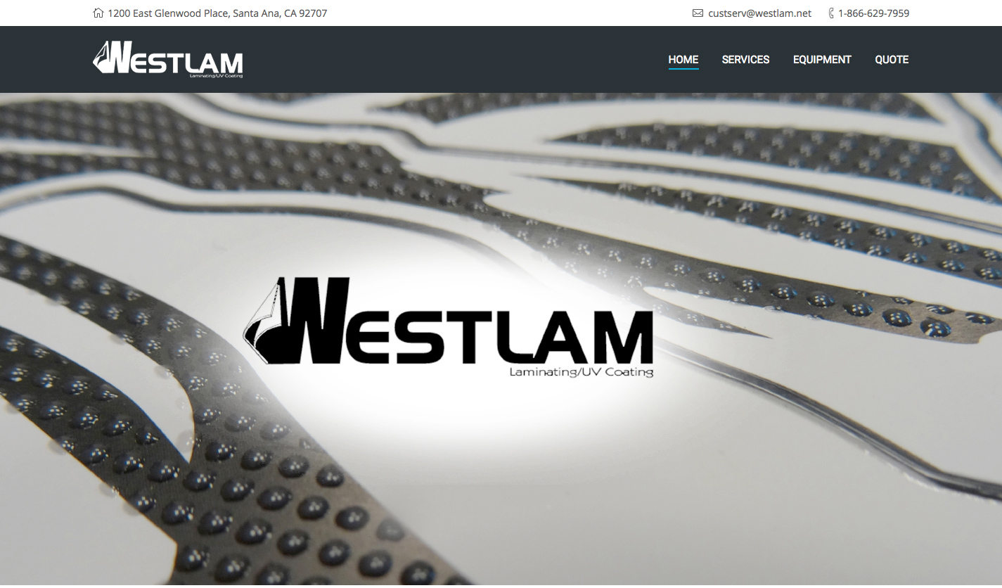 Westlam's New Responsive Website