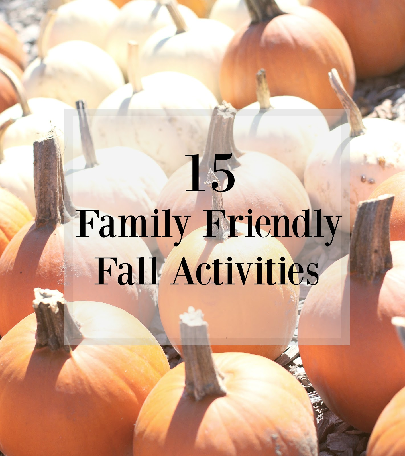 15 Fall Activities