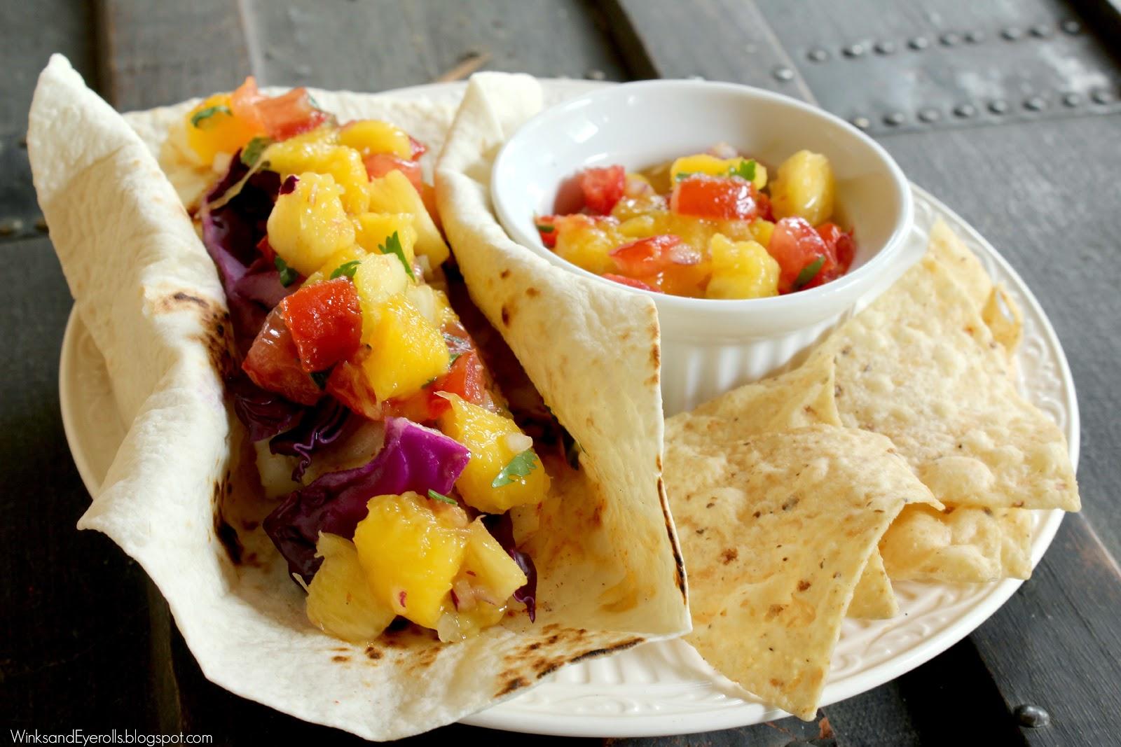 Fish Tacos With Mango Pineapple Salsa