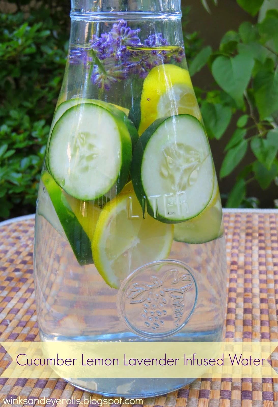 Cucumber Lemon Lavender Infused Water