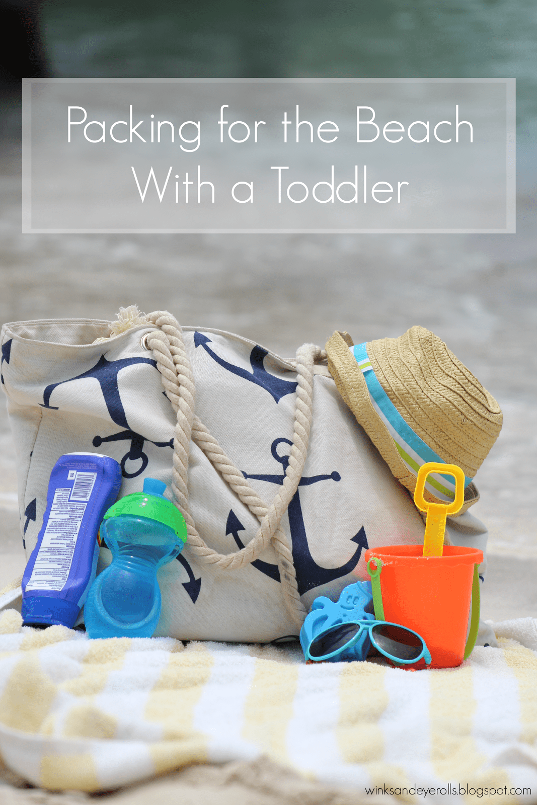 Packing for the beach with a toddler