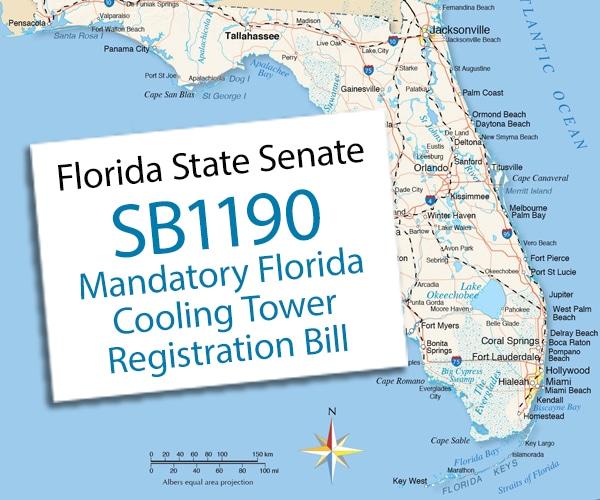 Mandatory Cooling Tower Registration Bill Introduced in Florida Senate