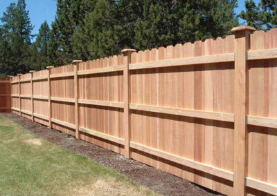 Heart Fence Style: Dog Ear with Boxed Posts