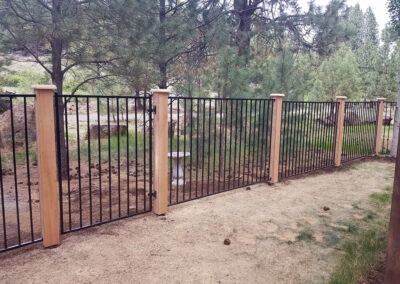 Heart Fence Style: Regal Iron with Boxed Posts