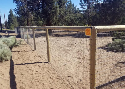 Heart Fence Style: Post and Rail with No-Climb Wire