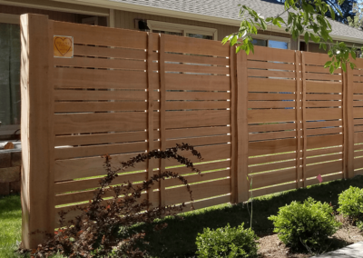 Heart Fence Style: Horizontal Semi Private Double Vertical
