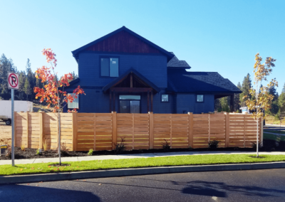 Heart Fence Style: Horizontal Semi Private Single Vertical