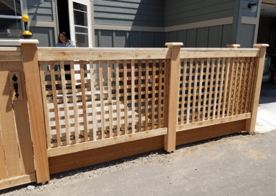Heart Fence Style: Traditional Lattice Fence