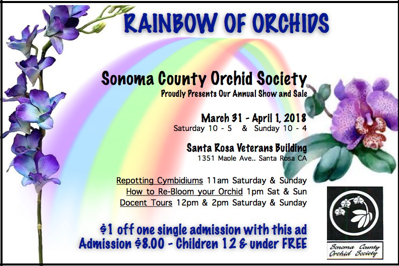 2018 SCOS Show Rainbow of Orchids