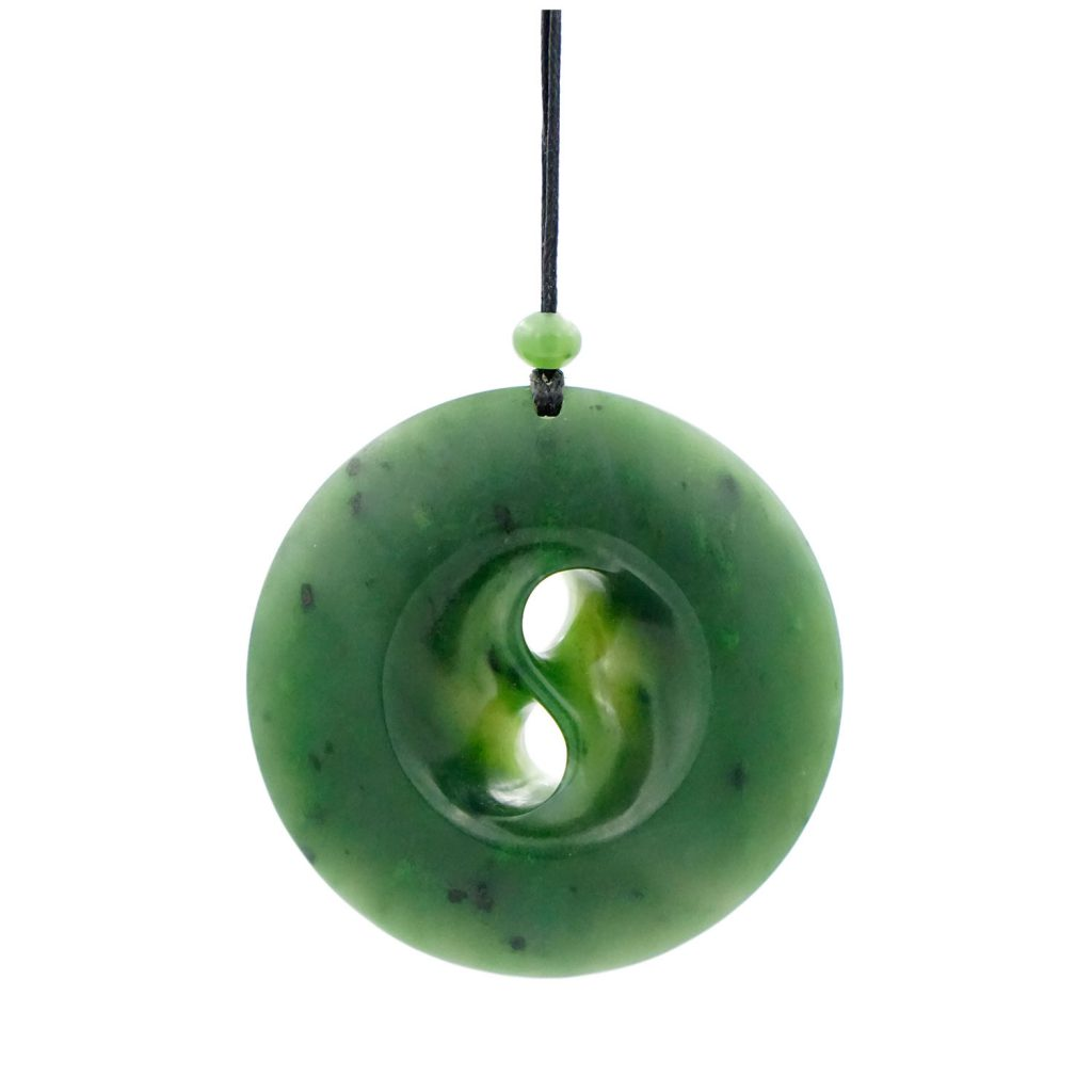 Artist Justin Barrett Jade Carver, Yukon Jade Pendant Carving, Nephrite. Abstract