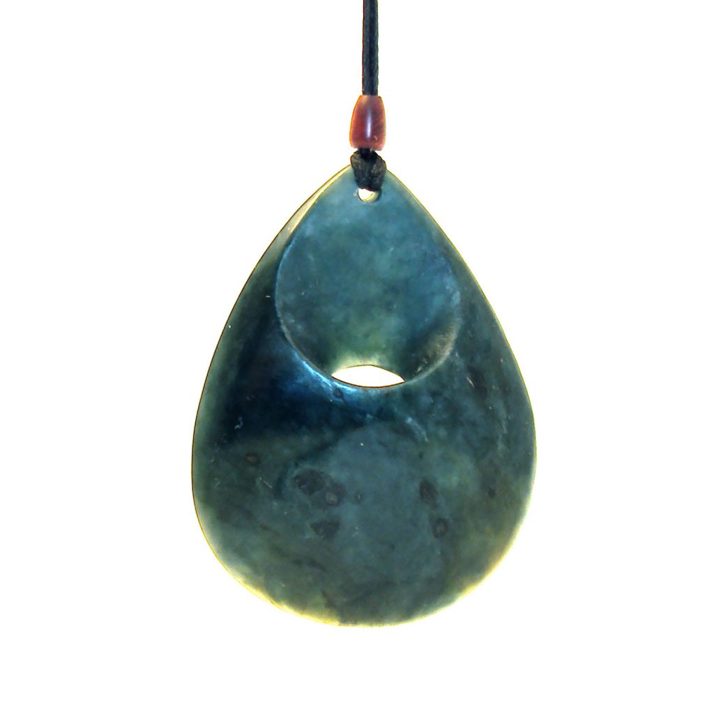 Artist Justin Barrett Jade Carver, Big Sur Blue Jade Pendant Carving, Nephrite, Simple,