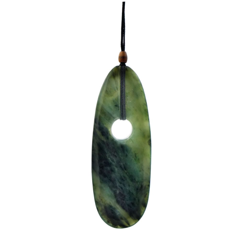 Artist Justin Barrett Jade Carver, Big Sur Jade Pendant Carving, Nephrite, Simple