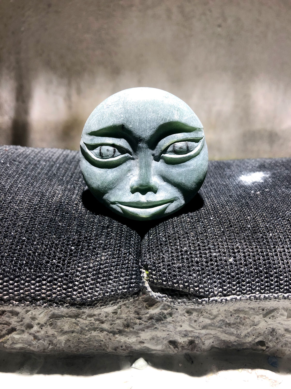 Justin Barrett, Jade Carver, Jade Face Carving