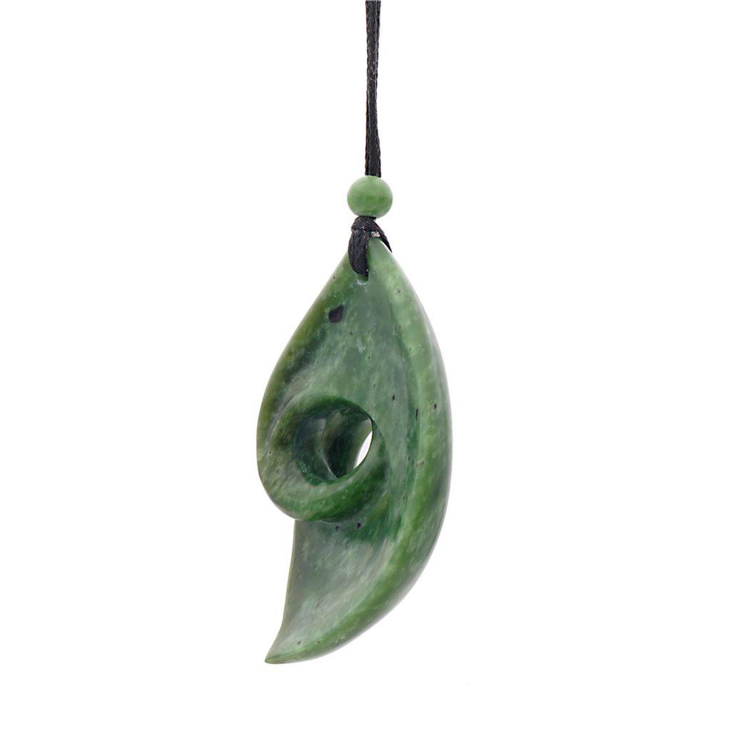 Artist Justin Barrett Jade Carver, Mariposa Jade Pendant Carving, Nephrite, Organic