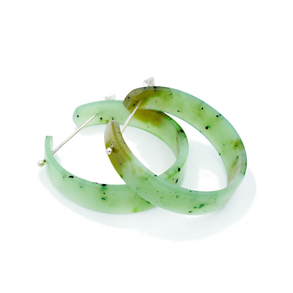 Justin Barrett Jade Carver Siberian Jade Earrings